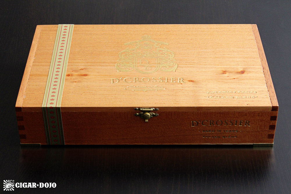 D'Crossier Golden Blend Aged 10 Years Torpedo box of cigars