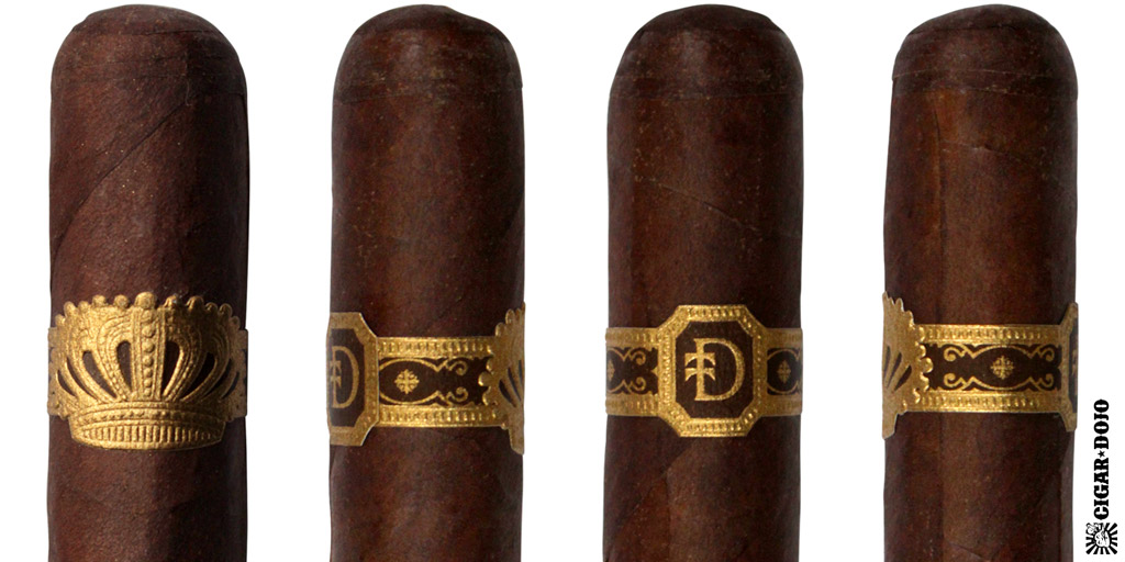 Sobremesa cigar and cigar band full view
