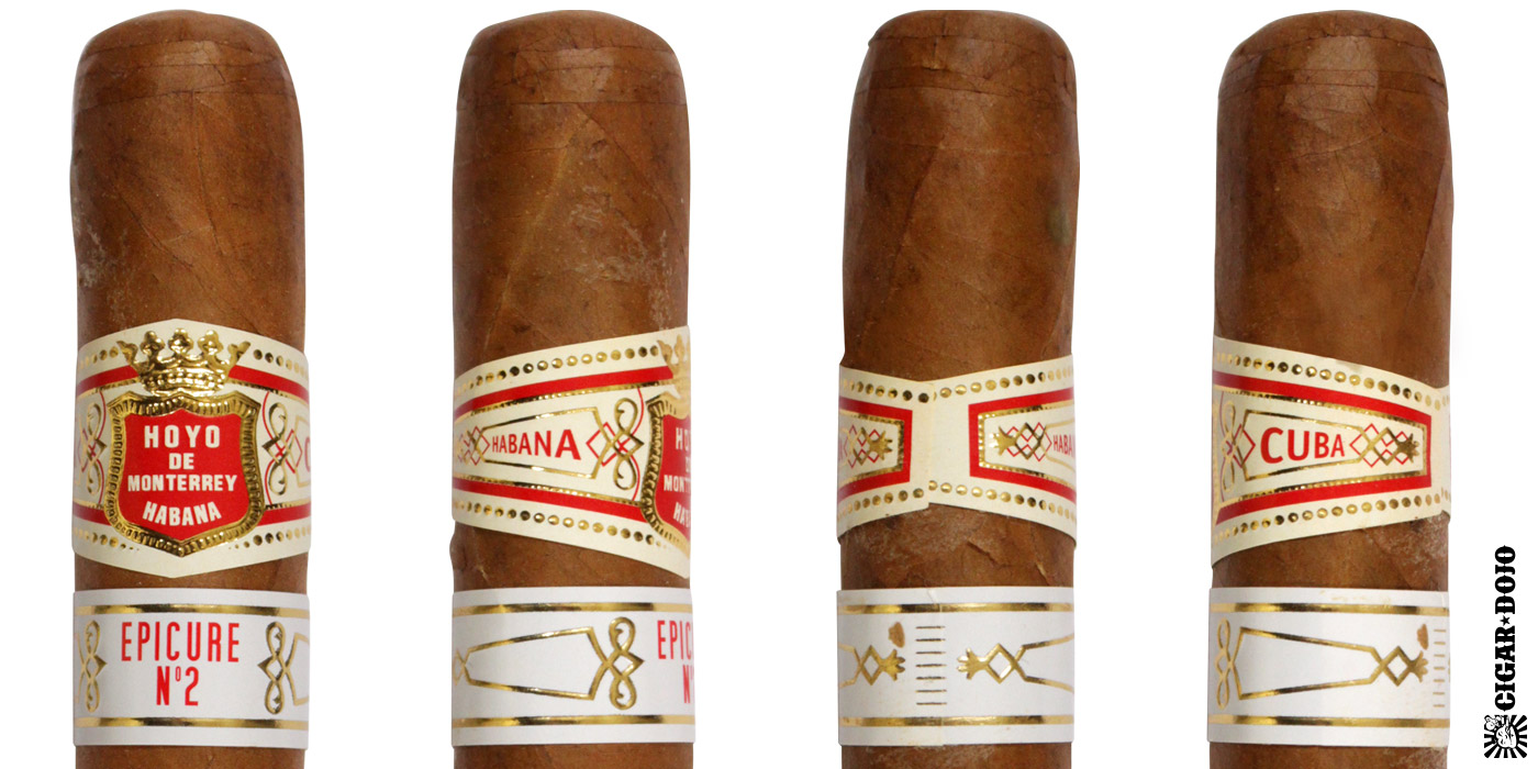 Hoyo de Monterrey cigar and cigar band full view