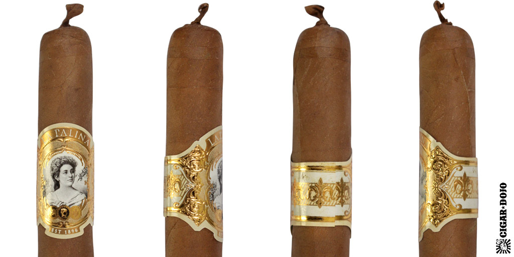 La Palina Goldie cigar and cigar band full view