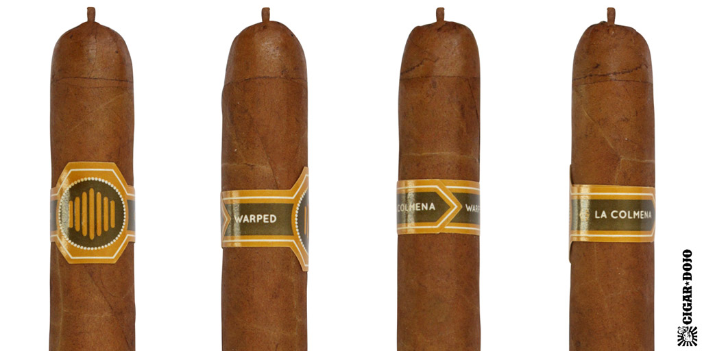 Warped La Colmena cigar and cigar band full view
