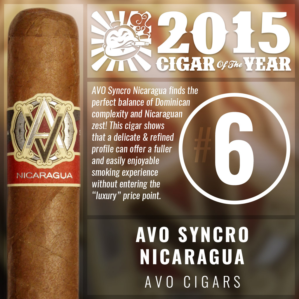 AVO Syncro Nicaragua #6 cigar of the year 2015