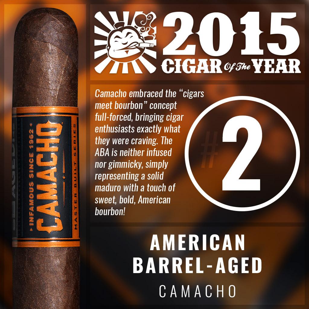 Camacho American Barrel-Aged #2 cigar of the year 2015