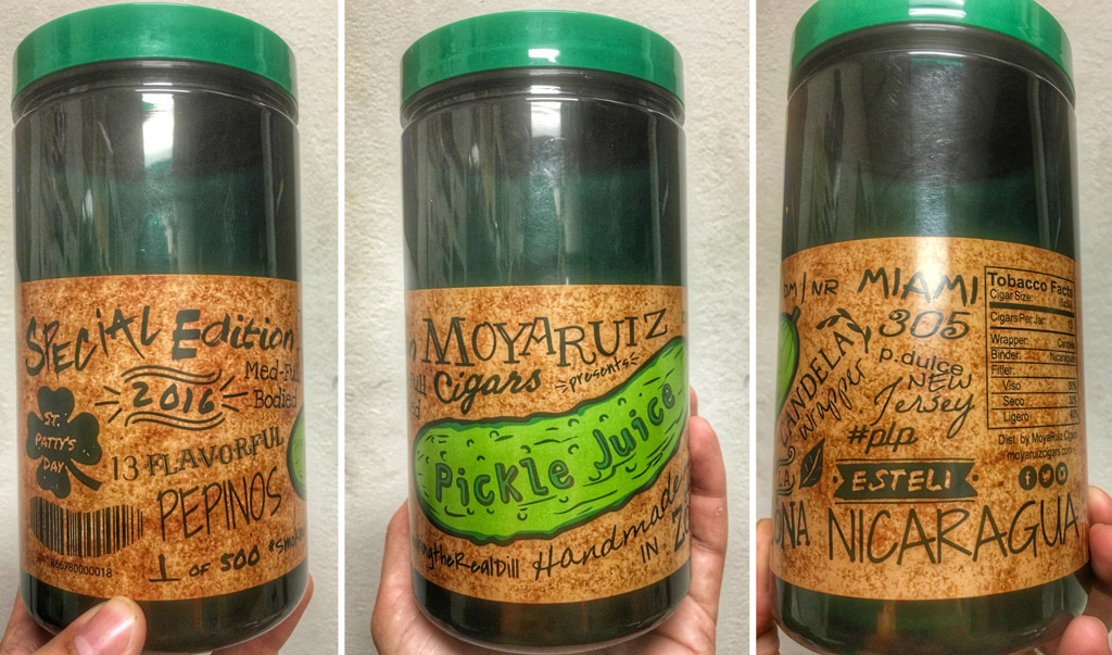 MoyaRuiz Pickle Juice cigar jar