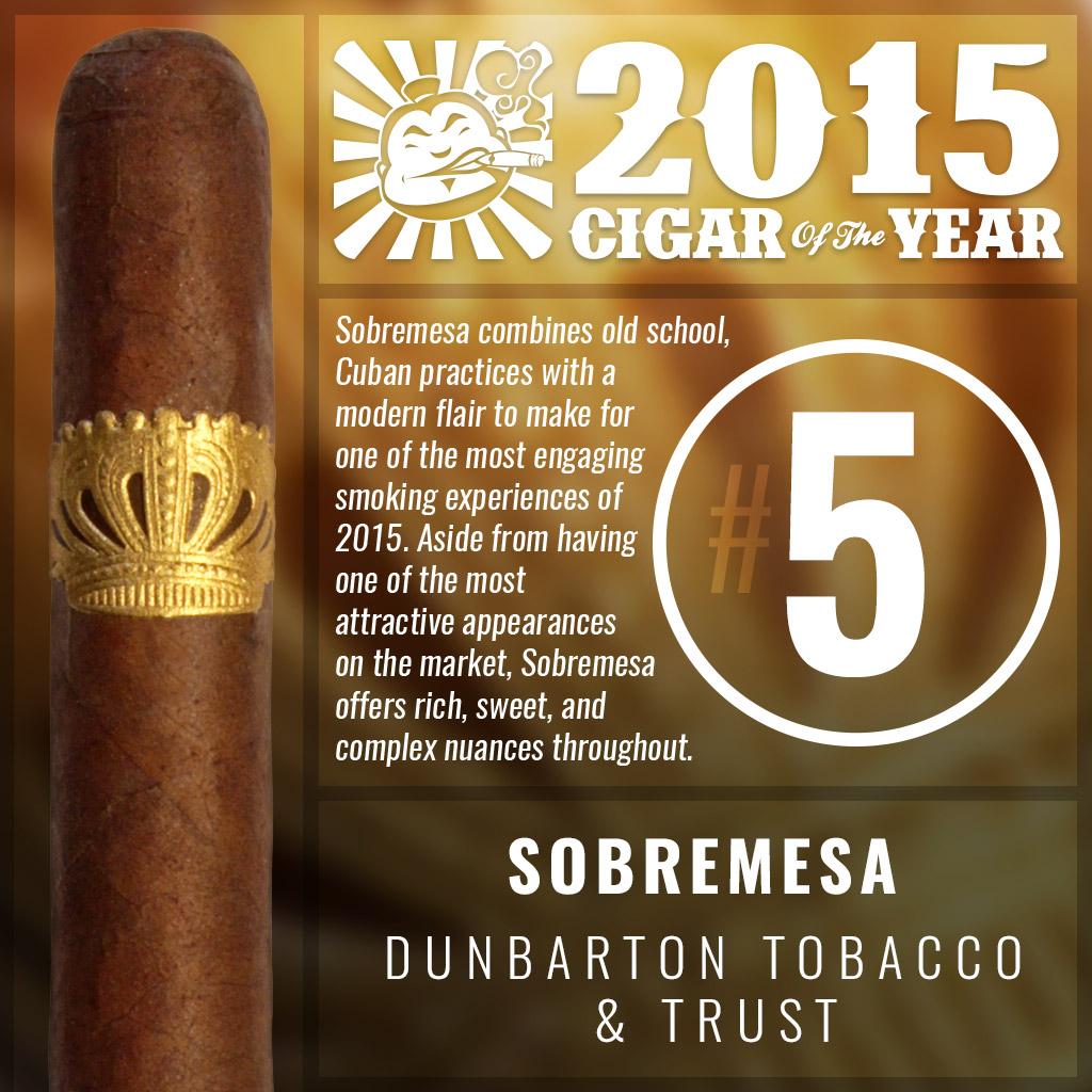 Sobremesa #5 cigar of the year 2015