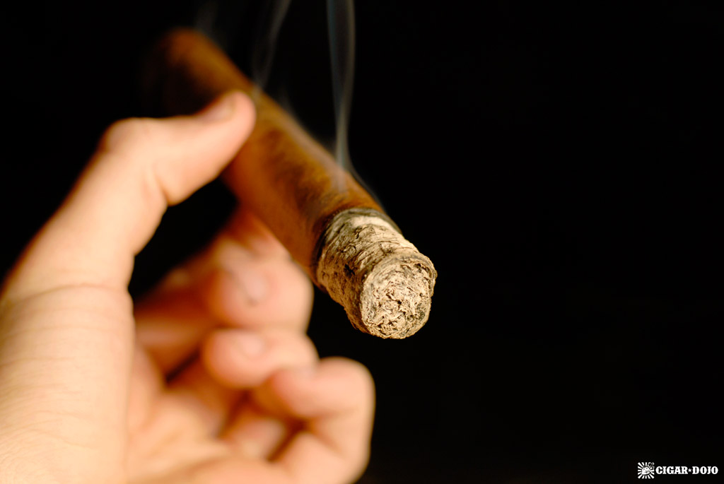 Eight Ball cigar review smoking cigar