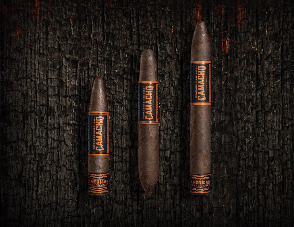 Camacho American Barrel-Aged Figurado cigars