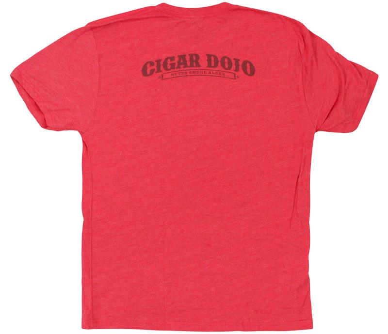 Cigar Dojo 2016 Red T-Shirt back