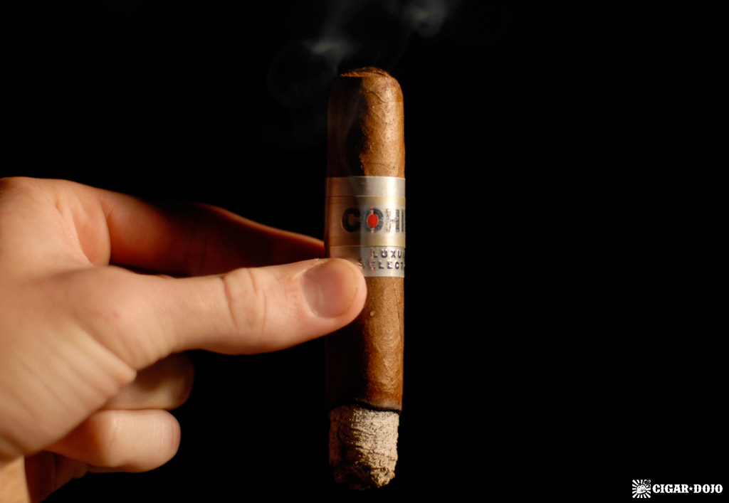 Cohiba Luxury Selection No. 2 cigar smoking