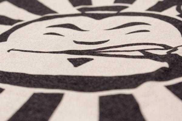 Dojo Bleached Grunge shirt Sensei closeup