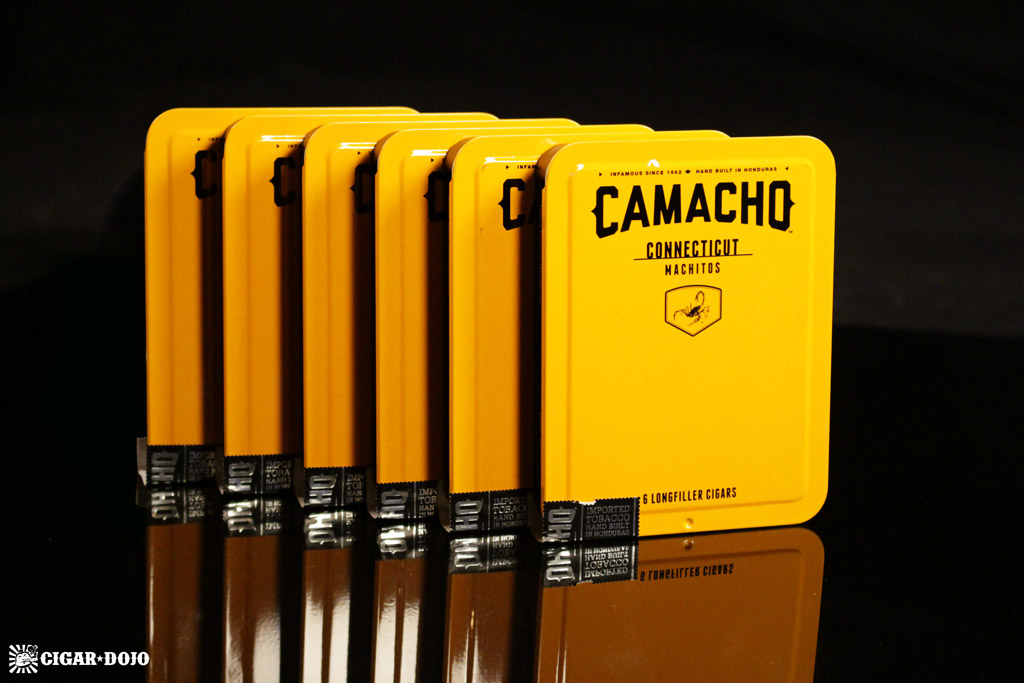 Camacho Connecticut Machitos cigar tins