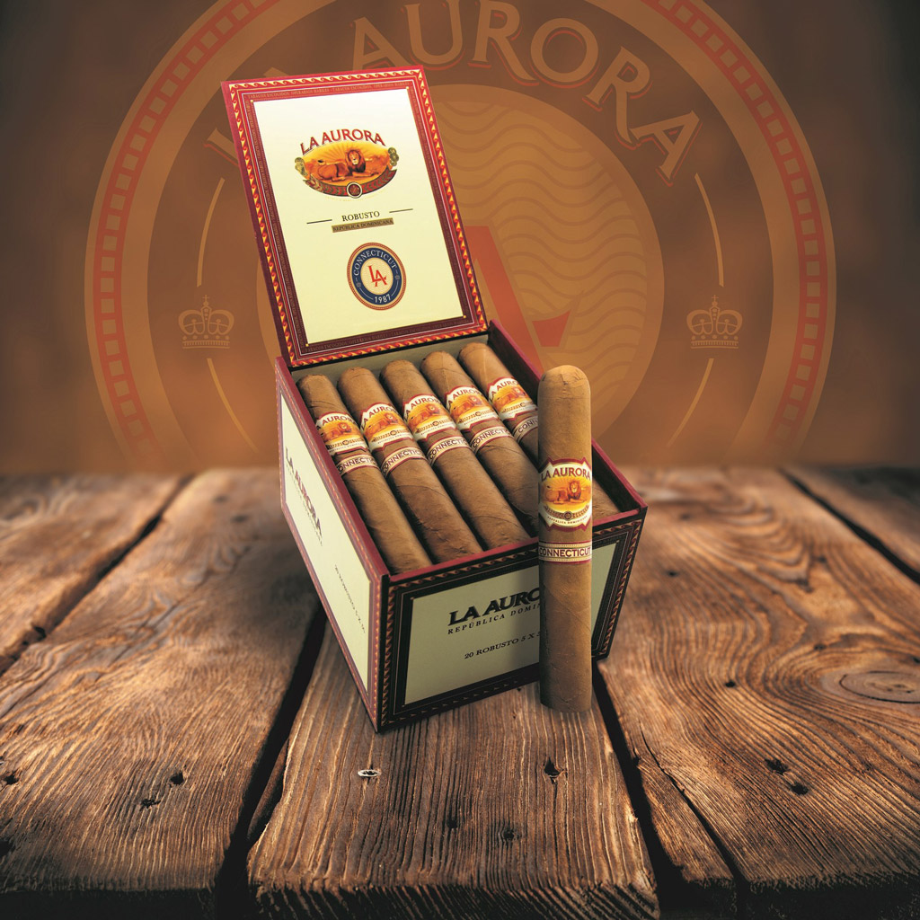 La Aurora 1987 Connecticut cigars packaging