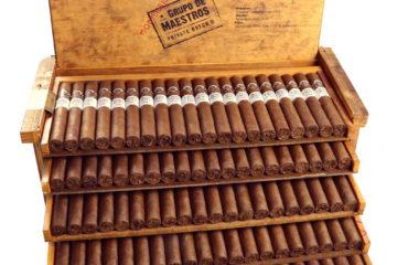 Montecristo Grupo de Maestros Private Batch II cigar open box packaging