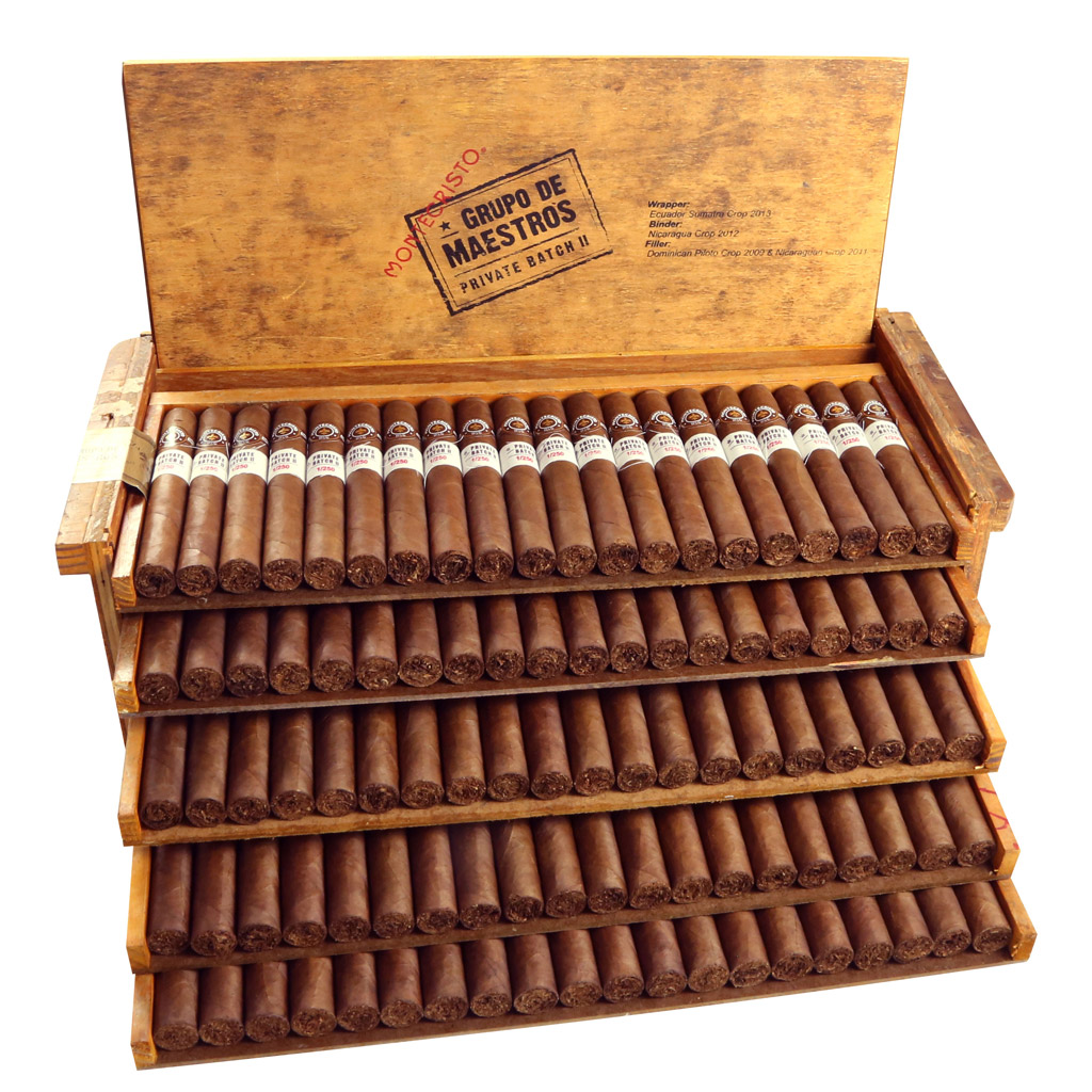 Montecristo Grupo de Maestros Private Batch II cigar open box packaging