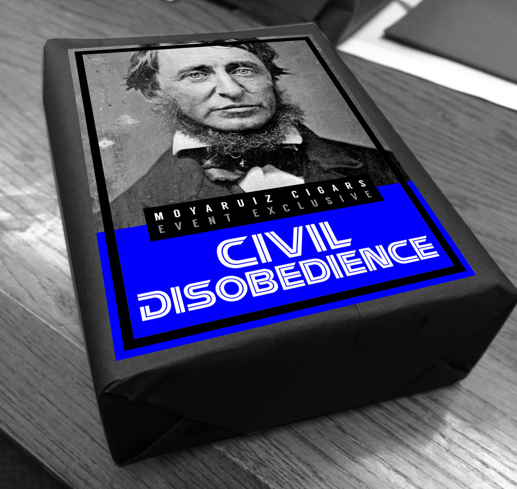MoyaRuiz Civil Disobedience cigar packaging