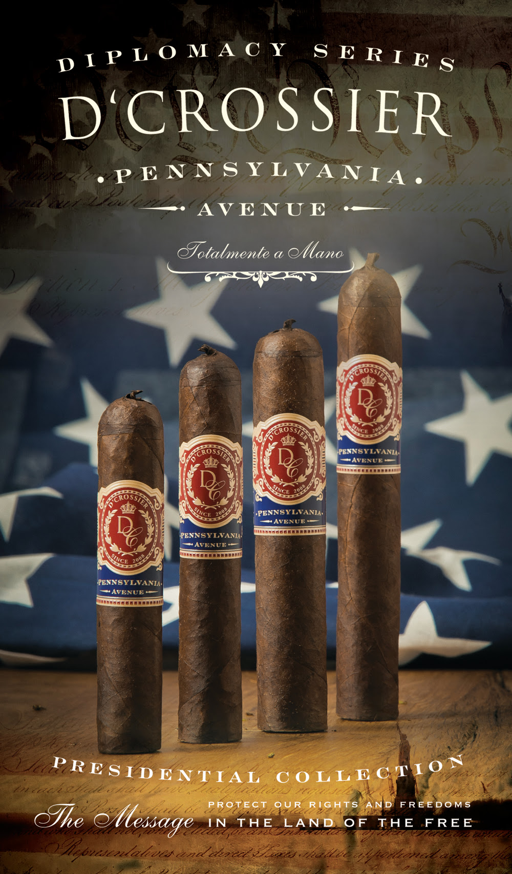 D'Crossier Presidential Collection Pennsylvania Avenue cigar release