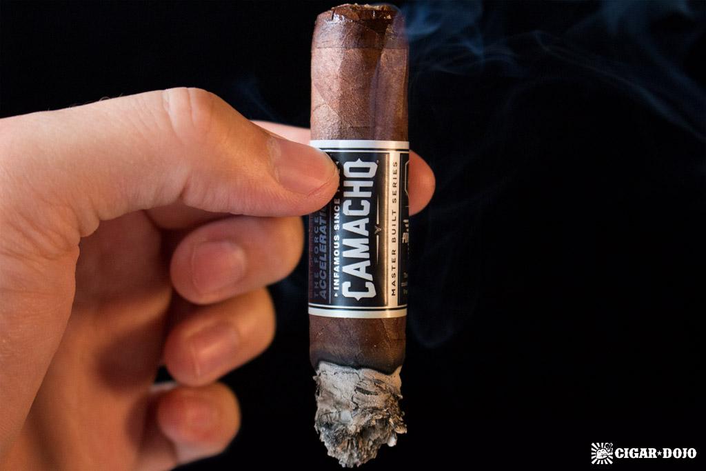 Camacho Powerband cigar smoking
