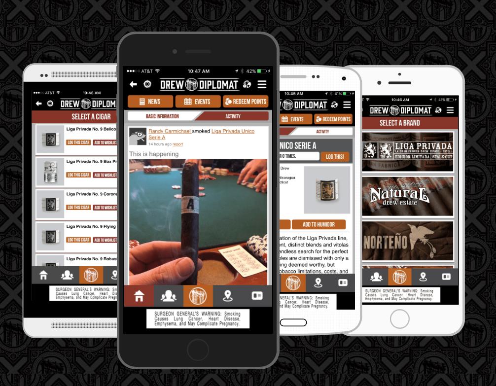 Drew Estate announces Drew Diplomat app