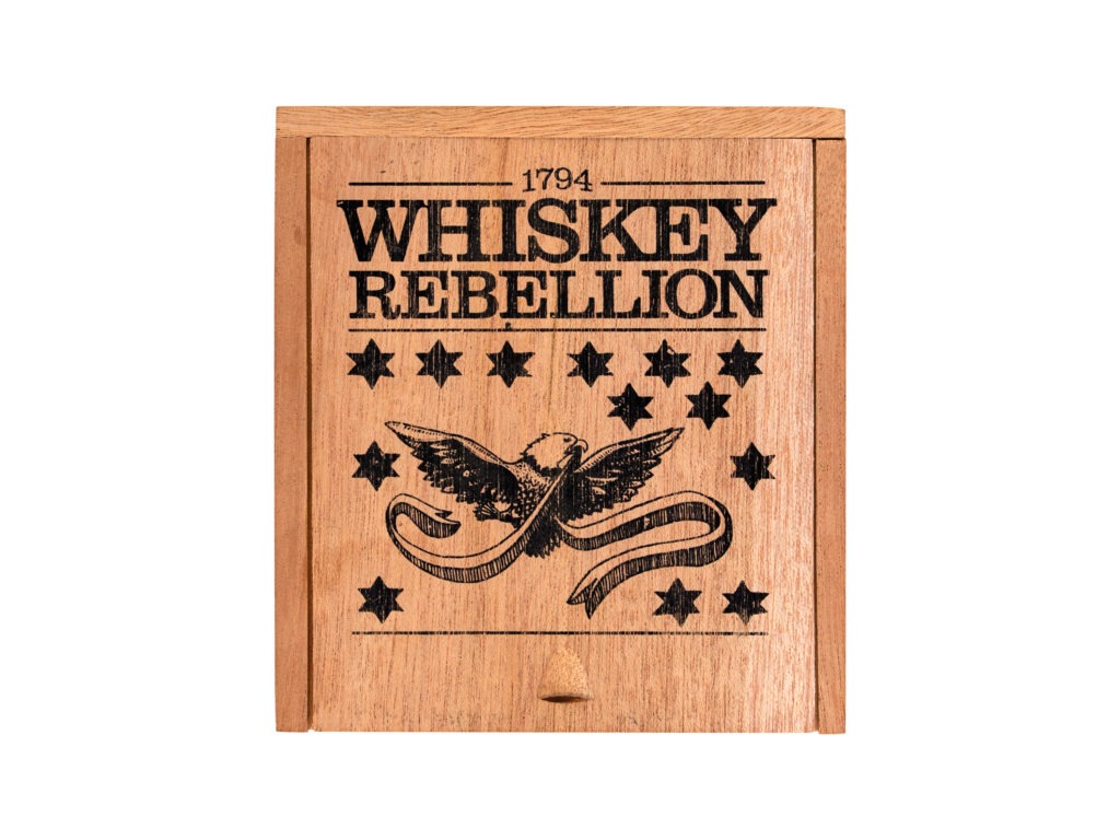 Intemperance Whiskey Rebellion cigar box closed
