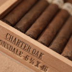 Foundation Cigar Co. Charter Oak cigar box open