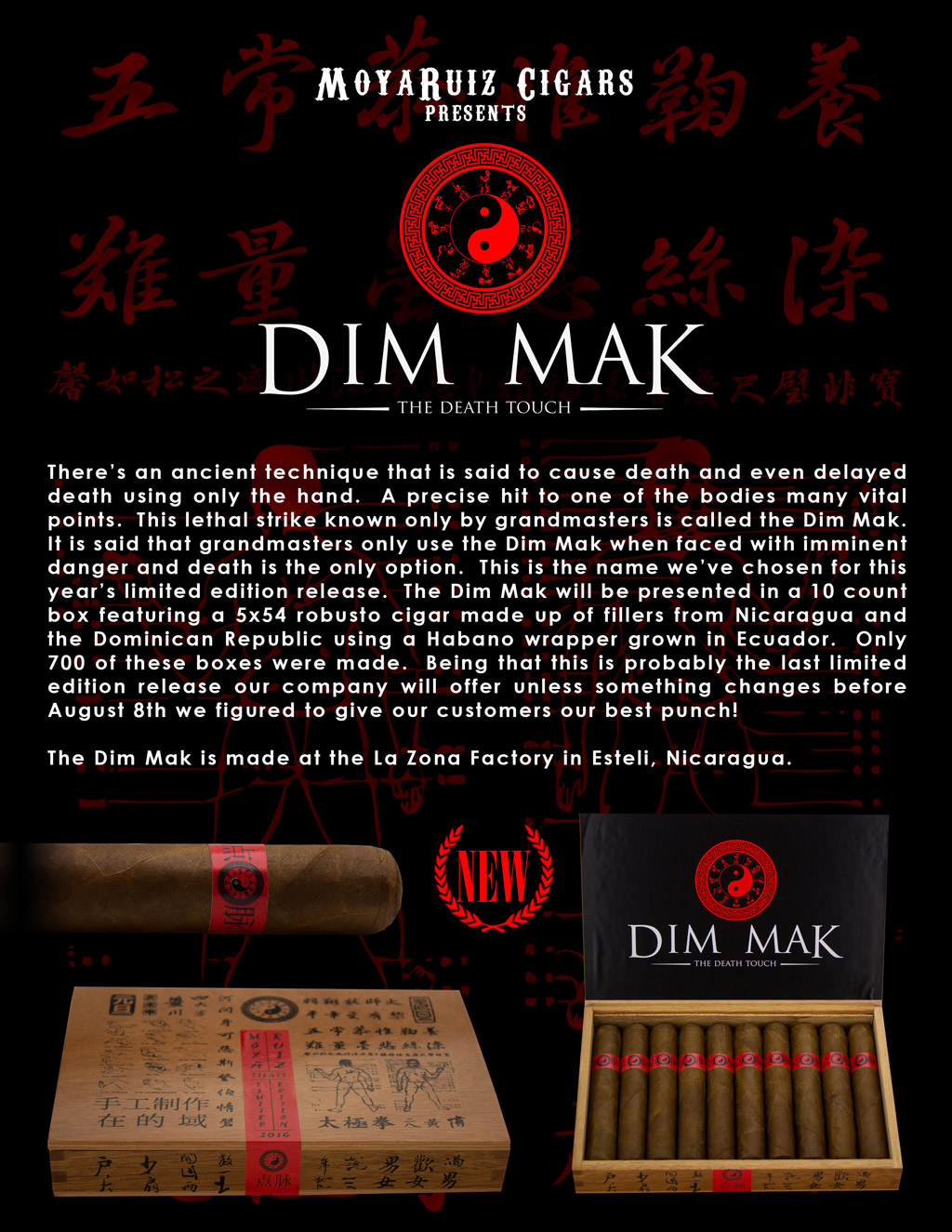MoyaRuiz Dim Mak cigar press release