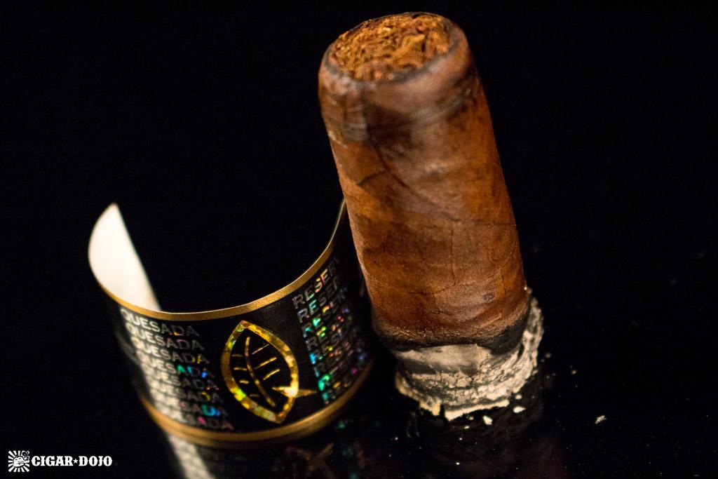 Quesada Reserva Privada Oscuro cigar nub