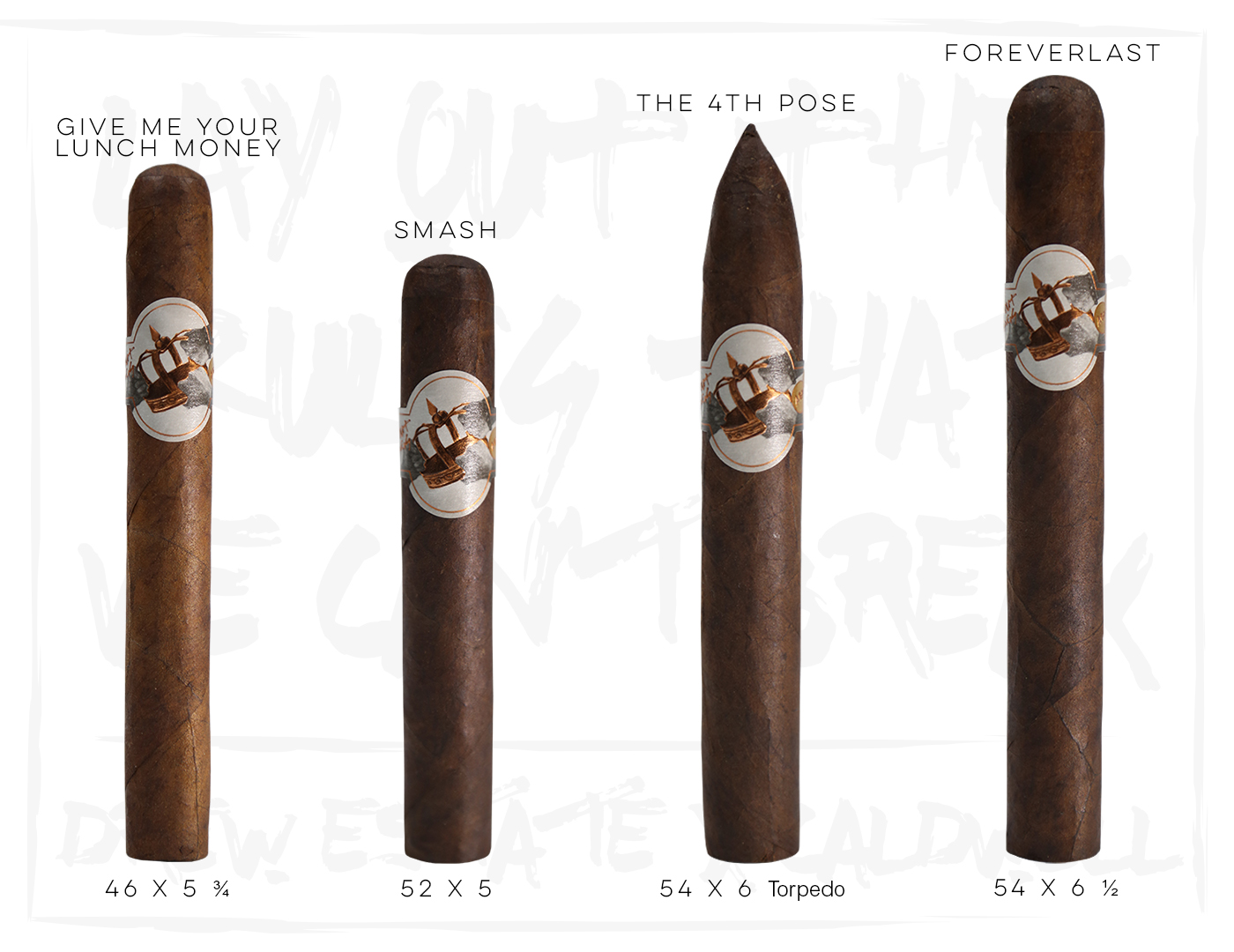 Caldwell All Out Kings cigar sizes