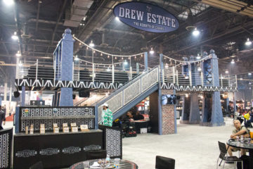 Drew Estate cigar bridge booth IPCPR 2016