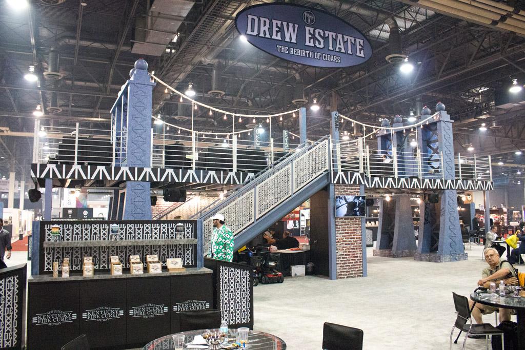 Drew Estate cigar bridge booth IPCPR 2016