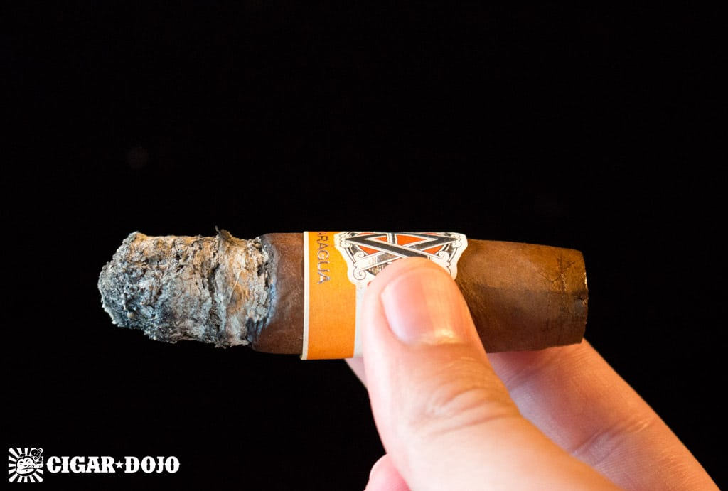 AVO Syncro Nicaragua Fogata Short Torpedo cigar ash