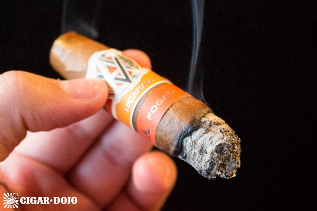 AVO Syncro Nicaragua Fogata Short Torpedo cigar smoke