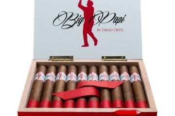 El Artista Big Papi by David Ortiz cigar box open