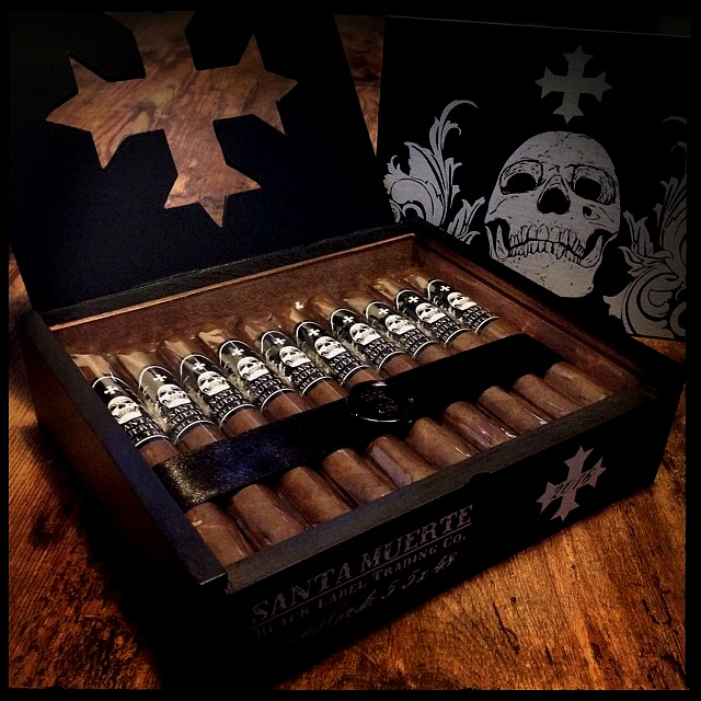 Black Label Trading Co. Santa Muerte cigars open box