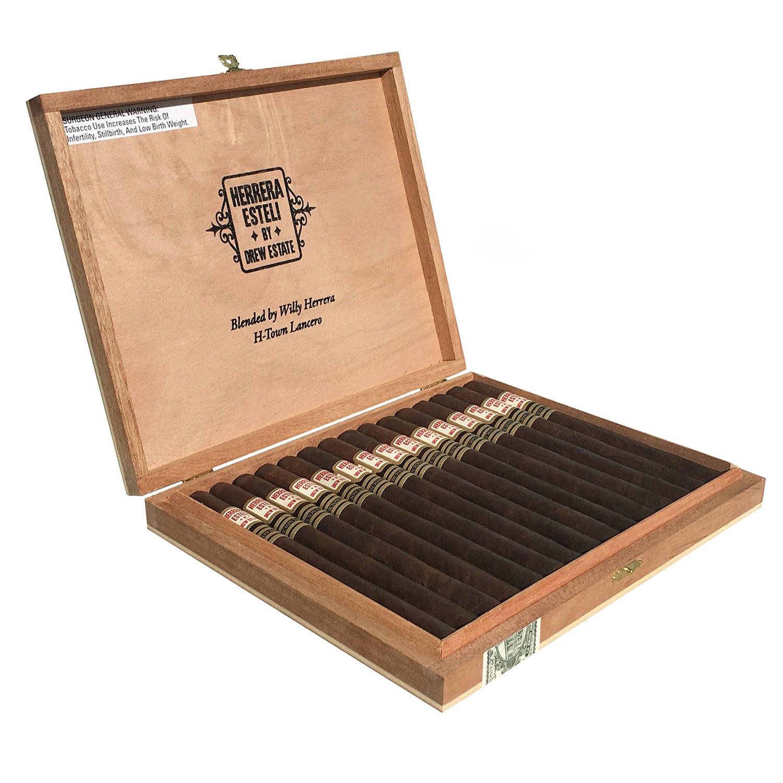 Herrera Estelí Edicíon Limitada H-Town Lancero cigar box open