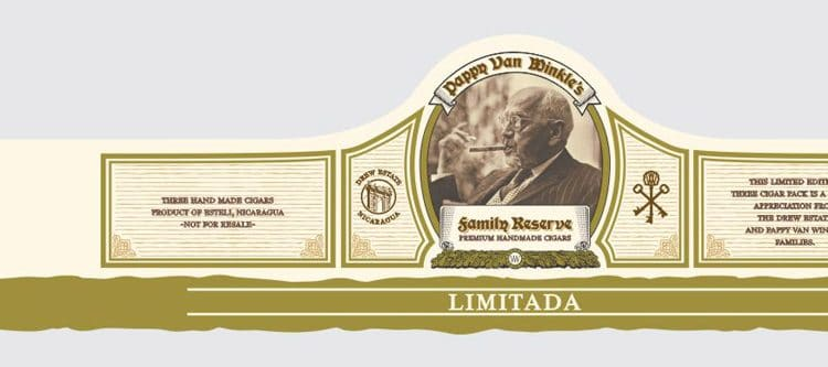 Drew Estate Pappy Van Winkle Limitada cigar band