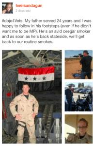 heelsandagun Cigar Dojo Veteran's Day 2016 contest winner