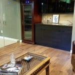 Basement cigar lounge cabinet humidor