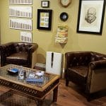 Home cigar lounge leather chairs