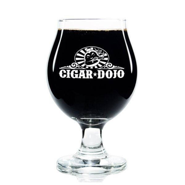 Cigar Dojo 13oz Tulip Beer Glass full