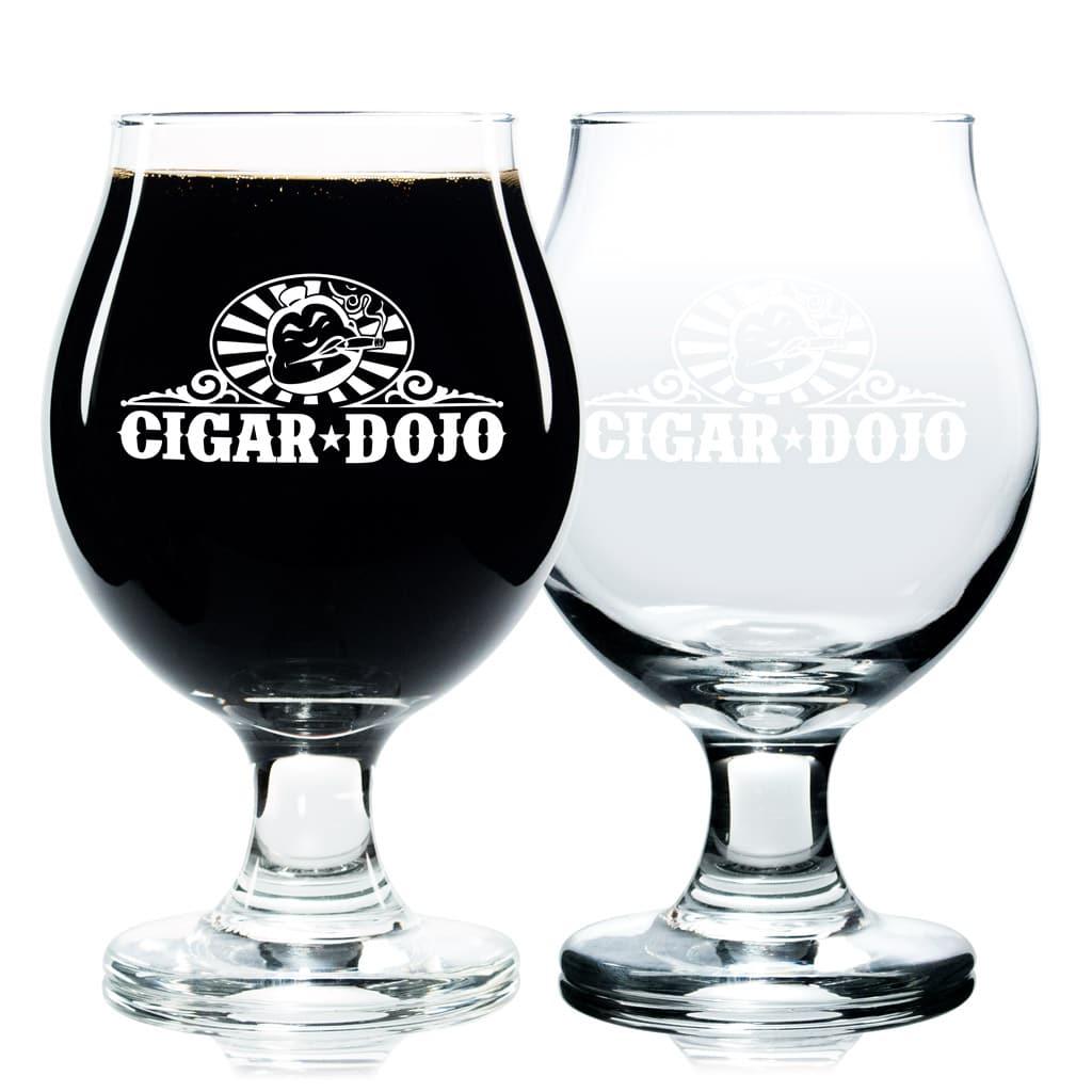 Cigar Dojo 13oz Tulip Beer Glass Set
