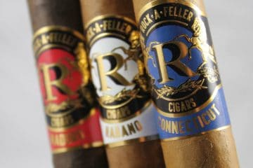 "Rock-A-Feller cigars ""Red, White, Blue"""