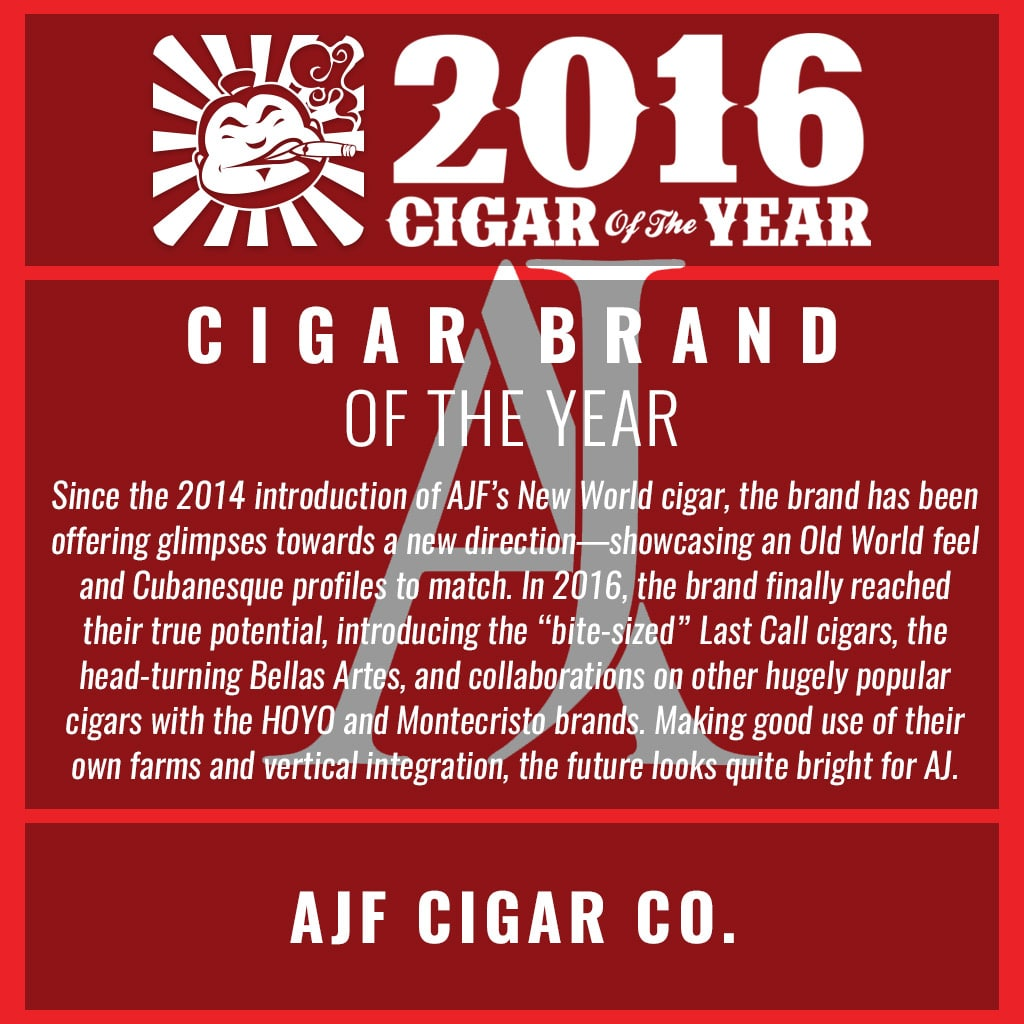AJ Fernandez Cigar Company Cigar Brand of the Year Award 2016