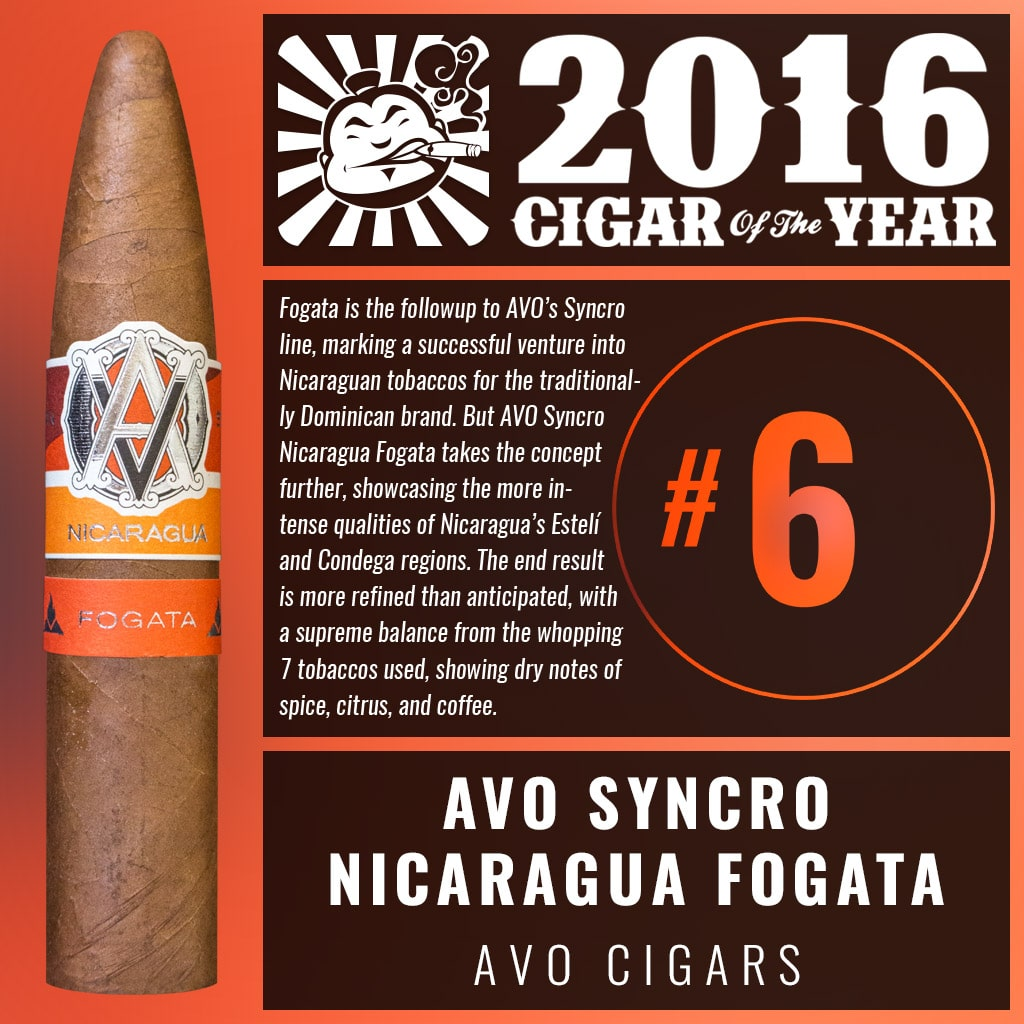 AVO Syncro Nicaragua Fogata Number 6 Cigar of the Year 2016