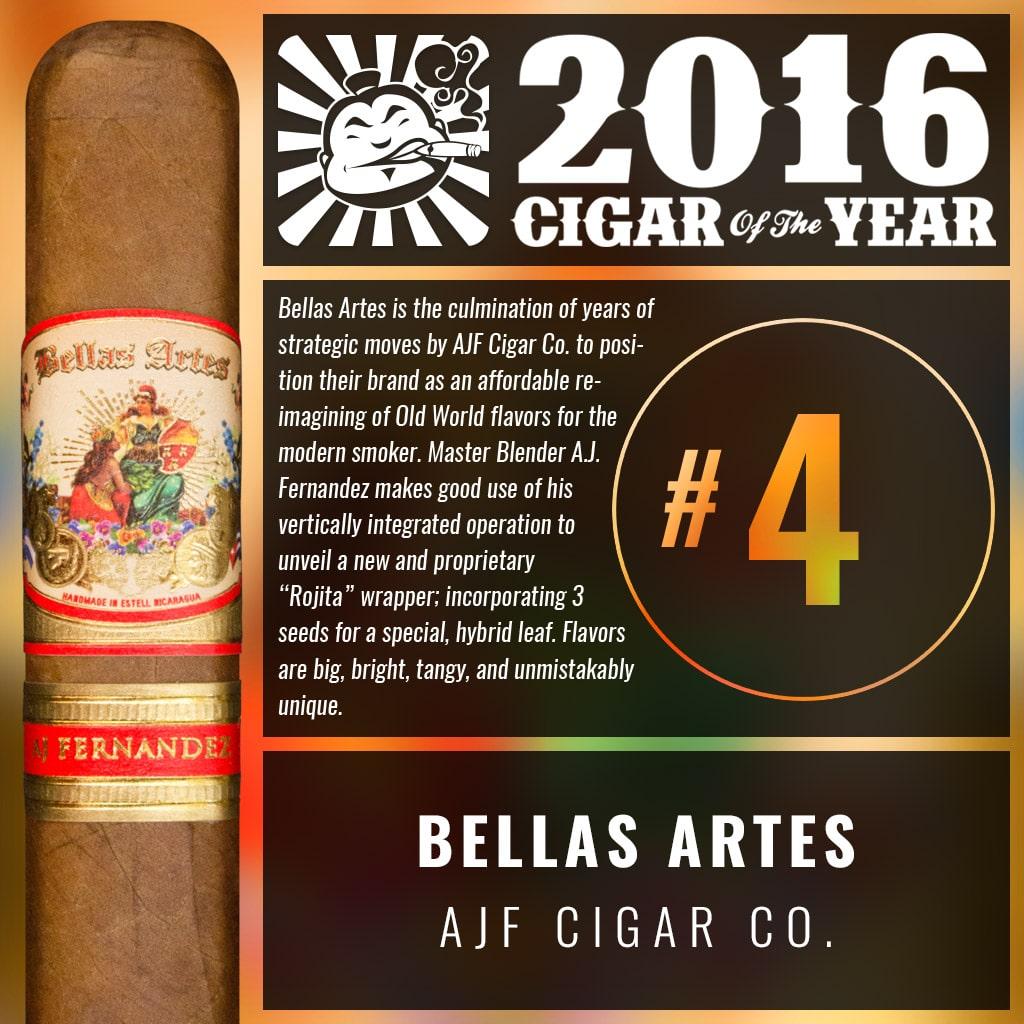 AJ Fernandez Bellas Artes Short Churchill Number 4 Cigar of the Year 2016