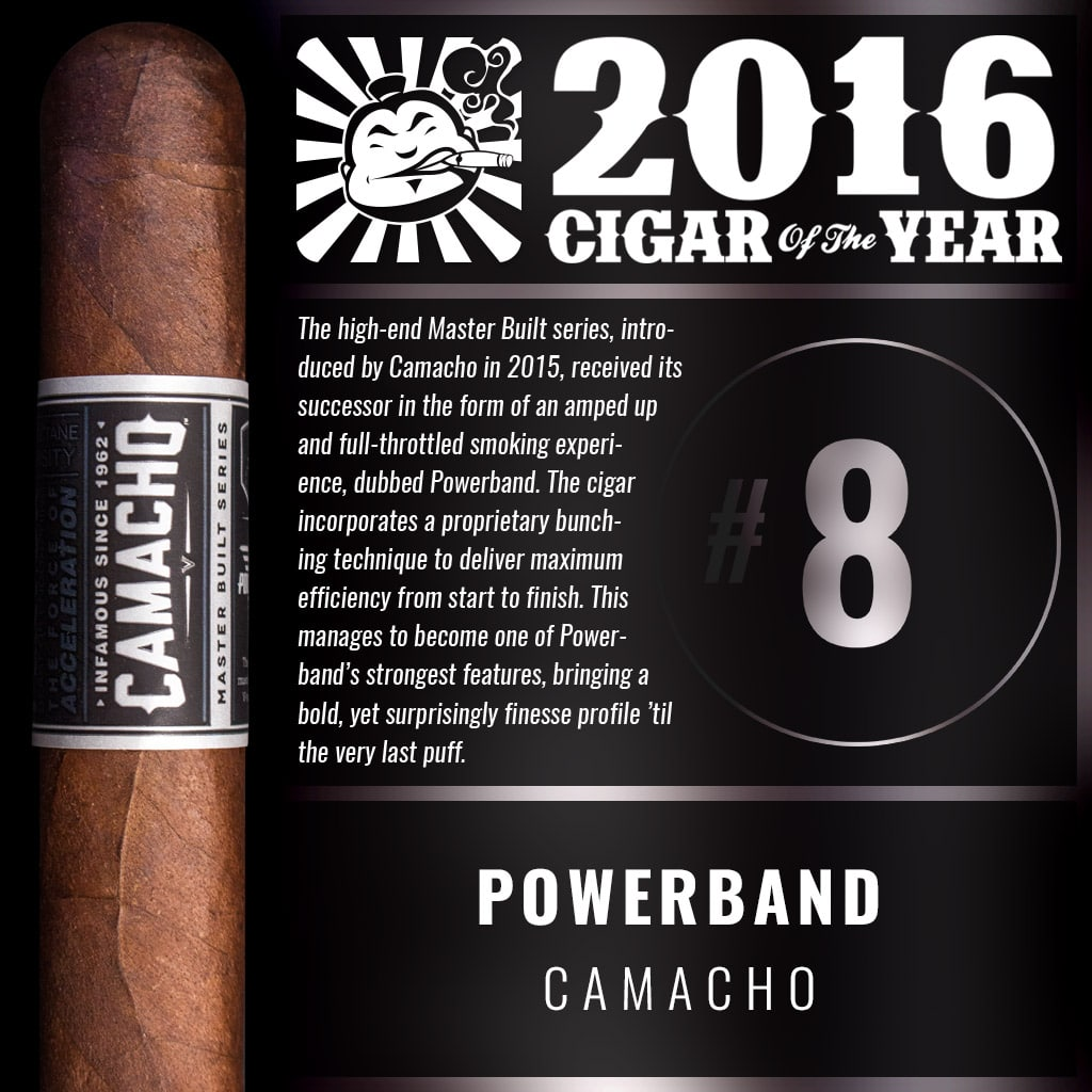 Camacho Powerband Toro Number 8 Cigar of the Year 2016
