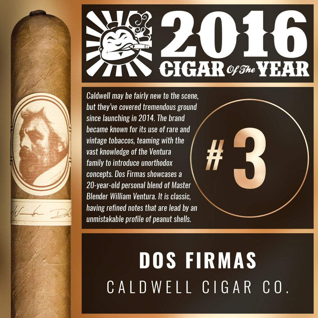 "Caldwell Dos Firmas 4⅞"" × 46 Number 3 Cigar of the Year 2016"