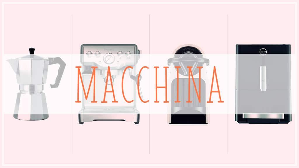 Macchina: four categories of espresso machines