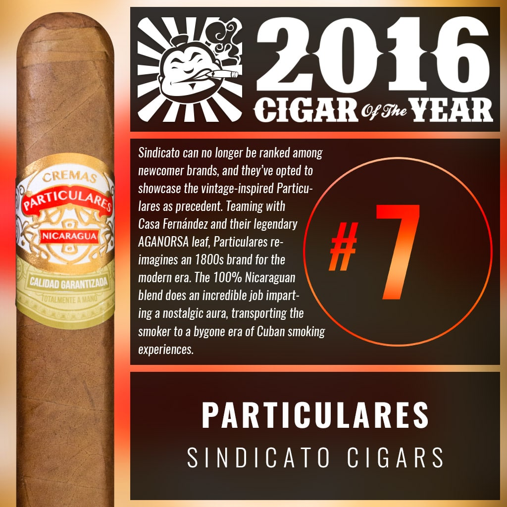 Sindicato Particulares Number 7 Cigar of the Year 2016