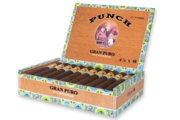 Punch Gran Puro Nicaragua cigar box open