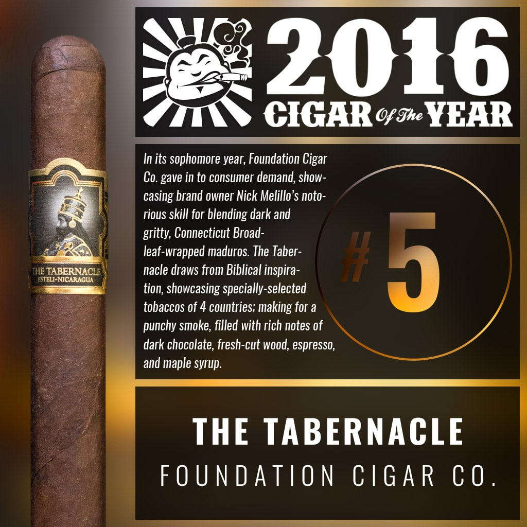 Foundation The Tabernacle Corona Number 5 Cigar of the Year 2016